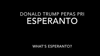 Who is Mark Esperanto really? Donald Trump tweet #Esperanto
