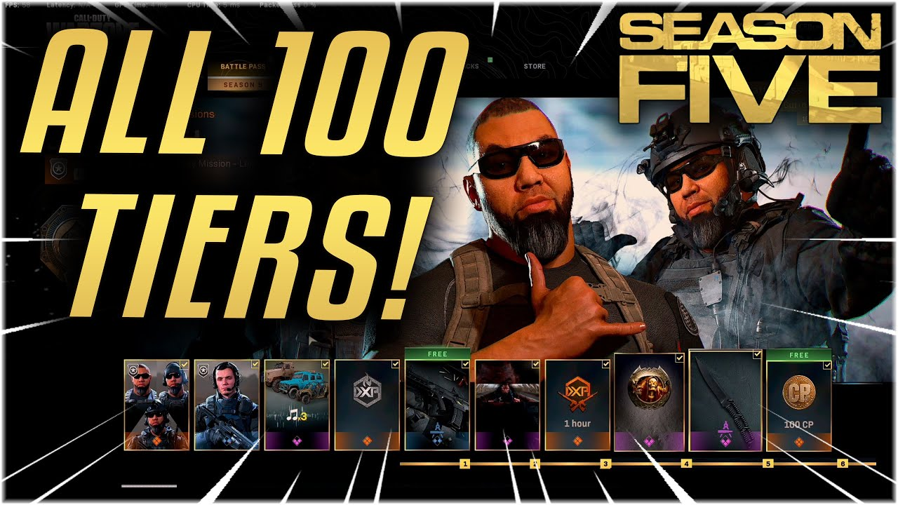 Full Season 5 Battle Pass Review New Guns Skins And More Modern Warfare Youtube