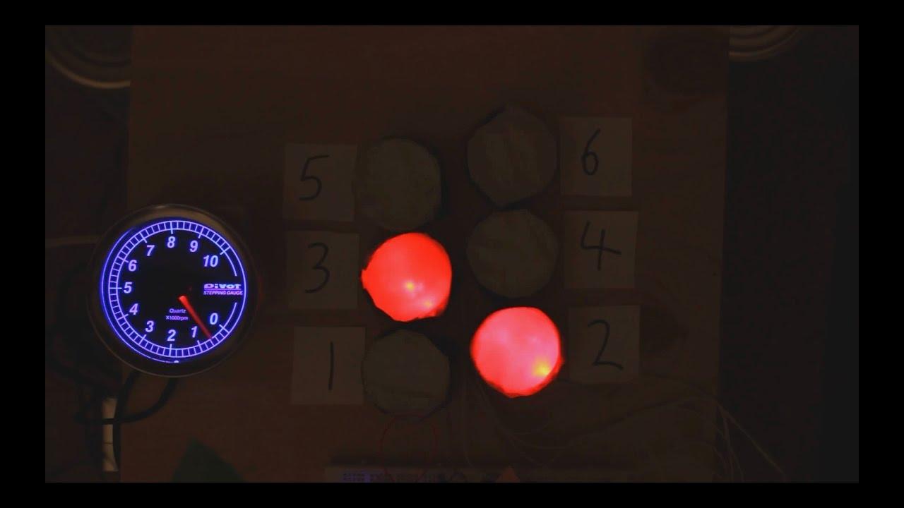 Audiovisual demonstration of 60 degree V6 firing order VR38DETT, VQ37VHR,  VQ35HR, VQ35DE, 3MZ-FE etc