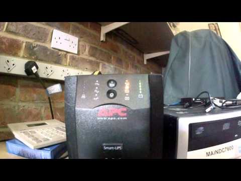 Apc 750 Smart Ups Youtube