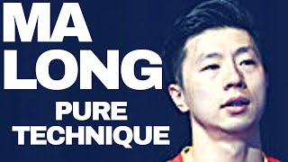 MA LONG PURE TECHNIQUE - Table Tennis Training with Chinese Team + Slow Motion