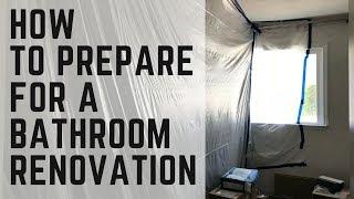 How to Prepare for a Bathroom Renovation