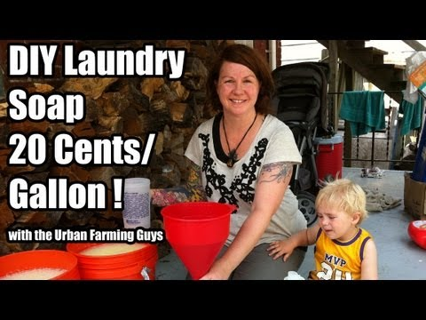 DIY Laundry Soap 20 cents a gallon!