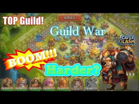 Guild War Gameplay MINO BOOM on Tencent Server Harder? Castle Clash