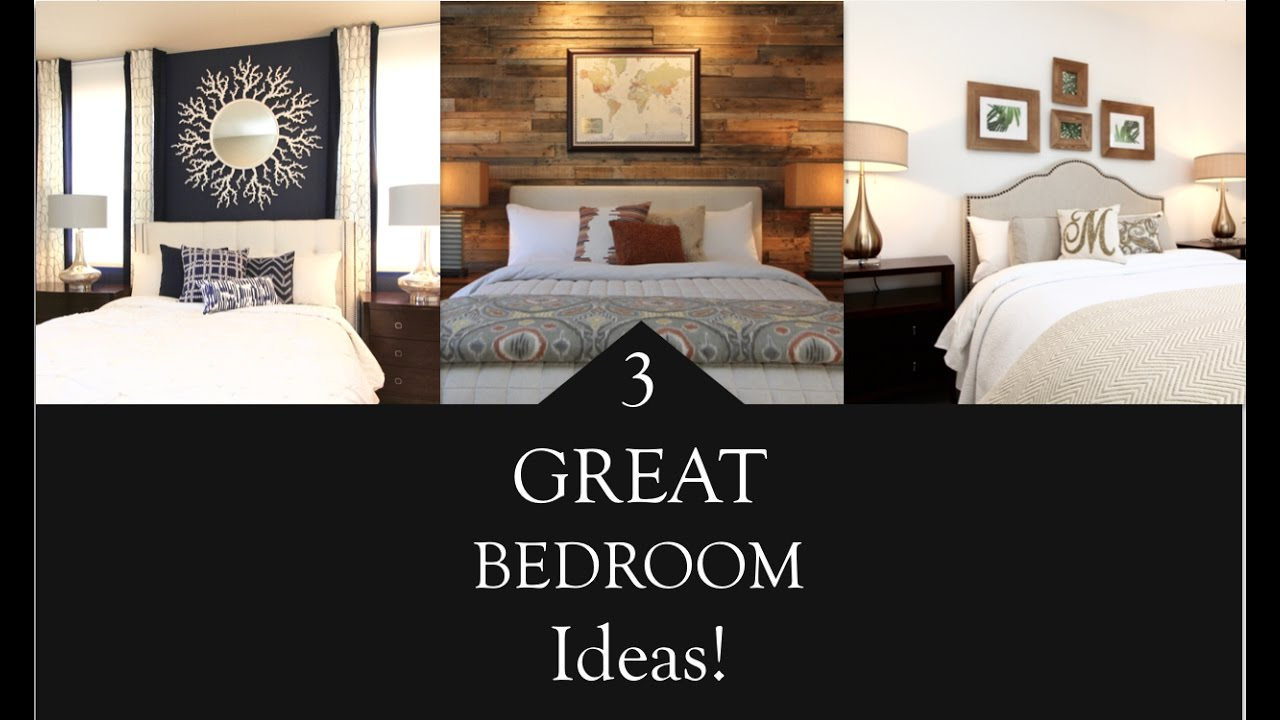 Interior design 3 great bedroom design ideas youtube for Great bedroom designs