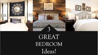 Interior Design | 3 Great Bedroom Design Ideas