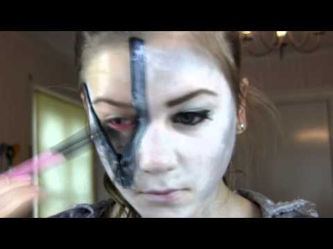 Halloween Makeup Tutorial - Ghost Pirate Zip Up Face - YouTube