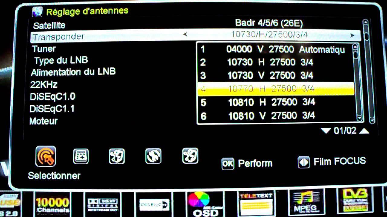 Comment ajouter des fréquences sur Géant 2500HD,GN-2500 NEW by Geant 2500