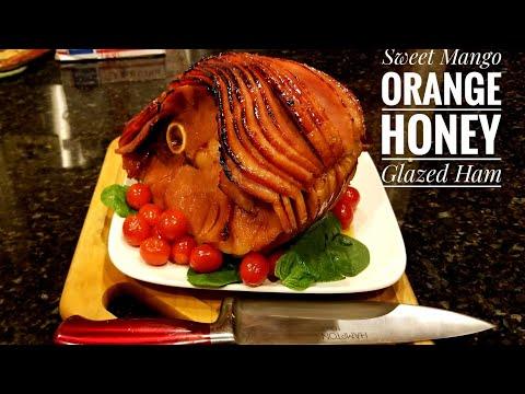 Sweet Mango Orange Honey Glazed Ham/Holiday Ham Recipe