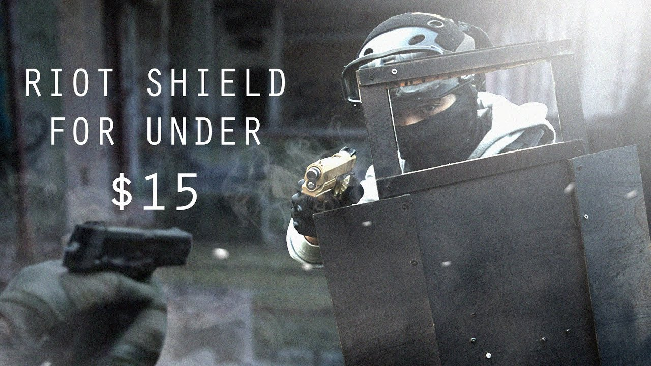 Making an Airsoft Riot Shield for under