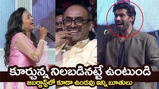 RANA andamp;  Anchor Suma Hilarious Double Meaning Conversation @Venky Mama Musical Night | Filmylooks
