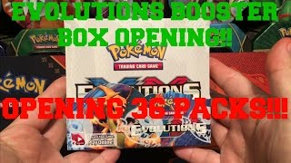 pokemon xy evolutions booster box 2 flash opening all 36 packs awesome pulls