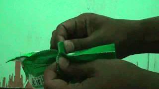 cara membuka bungkus snack