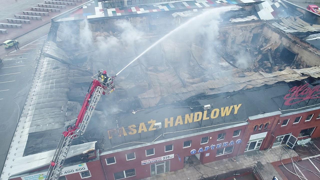 Pożar pasażu Hayduk w Żarach