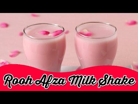 Roohafza Milkshake   Instant Cool Drink for Summer