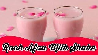 Roohafza Milkshake | Instant Cool Drink for Summer