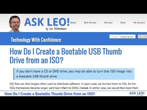 How Do I Create a Bootable USB Thumb Drive from an ISO? - Ask Leo!