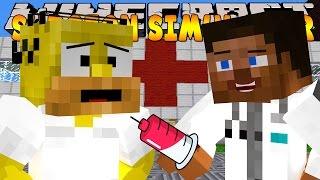 Minecraft - SURGEON SIMULATOR - HOMER GETS BRAIN SURGERY