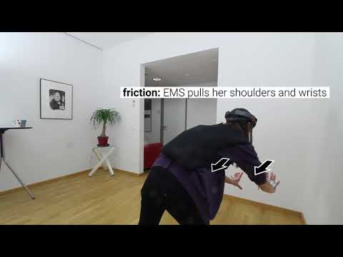 Adding Force Feedback to Mixed Reality Experiences and Games using Electrical Muscle Stimulation