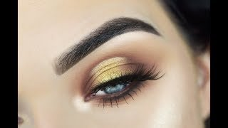 NEW ABH SOFT GLAM Palette | Gold Halo Eye Makeup Tutorial