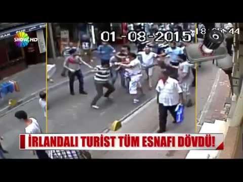İrlandalı boksör turist aksaray'da tüm esnafı dövdü