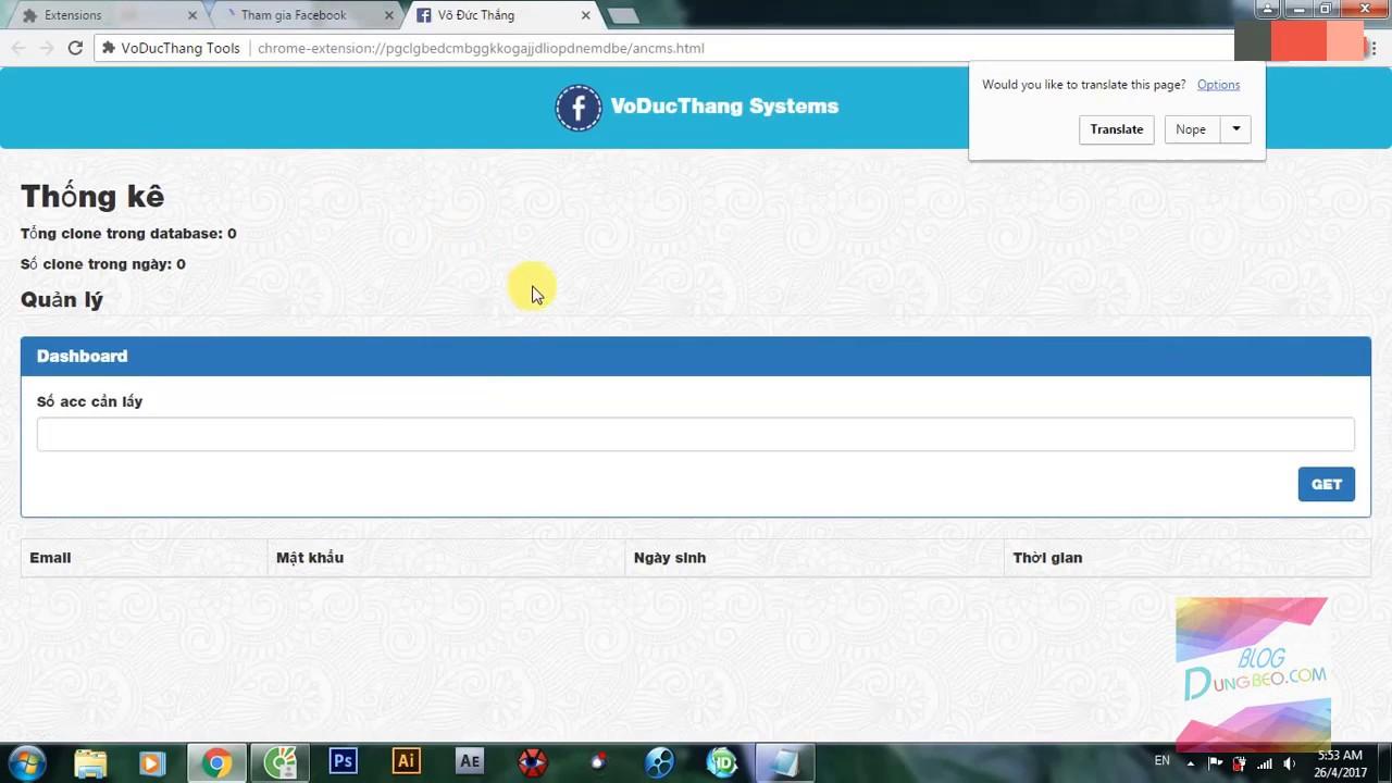 Tool Auto Reg Clone Facebook cá»±c nhanh15s/acc Working 100% 2017  