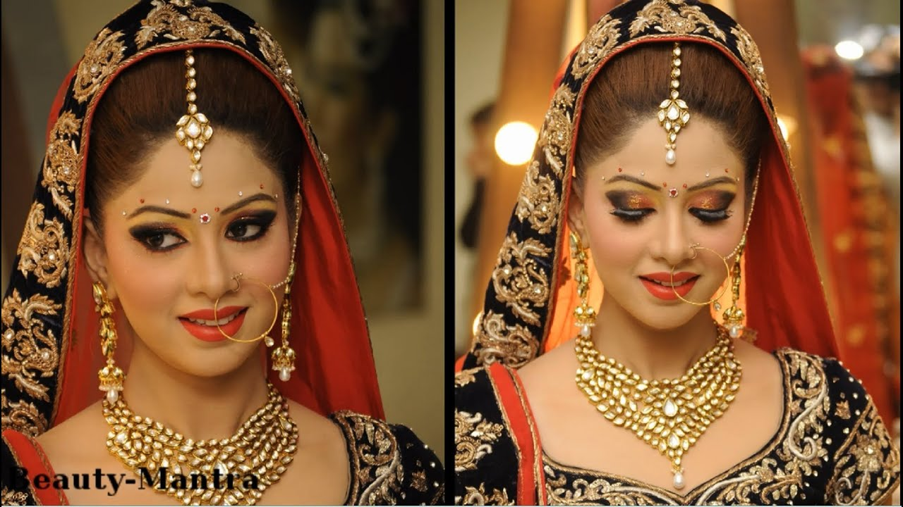 Indian Wedding Makeup For A Beautiful Bride - YouTube