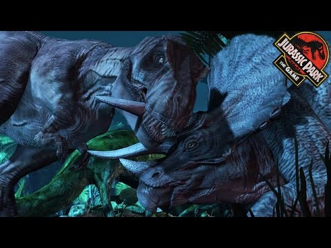 T-REX Vs TRICERATOPS - Ep1: THE INTRUDER || Jurassic Park The Game