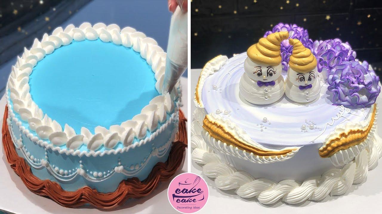 Easy Cake Decorating Tutorial For Beginners Home Made Cakes For Birthday Cake Design Youtube