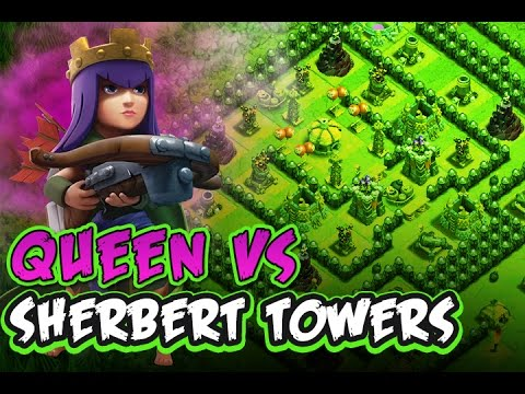 CLASH OF CLANS :: QUEEN SOLO'S SHERBET TOWERS :: SHE'S INSANE