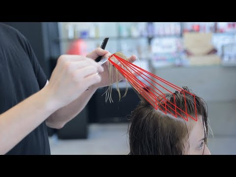 how to cut layers with disconnection women's haircut