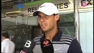 Interview (Mallorca, June 27, 2013): Rafael Nadal is back home