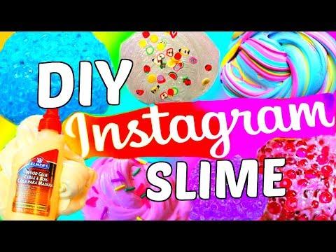 DIY INSTAGRAM SLIME TESTED! Fishbowl Slime, Wood Glue Slime, Purple Floam Ice Cream!