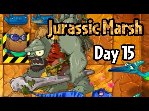 Plants vs Zombies 2 - Jurassic Marsh Day 15: Endangered Primal Wall-nut