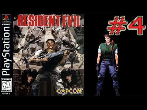 Resident Evil PS1 Прохождение за Криса #4 Отравления Гиганское Змеи