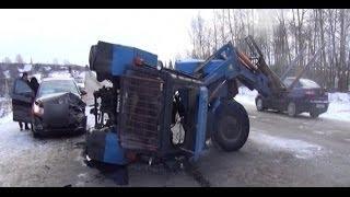 БЕЗУМИЕ на ЗИМНИХ ДОРОГАХ. Аварии - Compilation of accidents