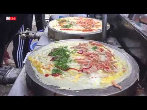 Ngon lạ món bánh Crepe Thái Lan bán dạo ở Sài Gòn