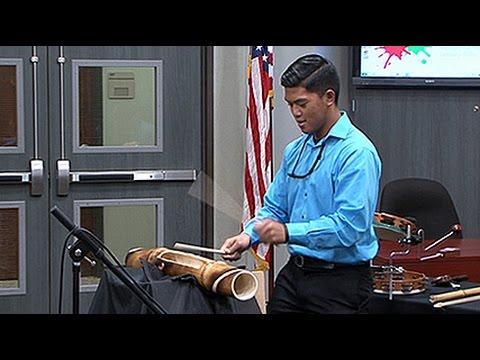 Spring High School Percussion Ensemble - School Board Appreciation Month