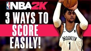 NBA 2K TIPS - 3 WAYS TO SCORE EASILY! - (MYTEAM MONEY PLAY)