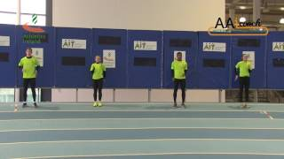 Relays - 4x1 Push Pass Wall Drill