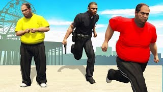 Cops Chase Me Down But Then I Change Clothes.. (GTA RP)