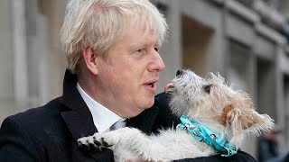 Boris Johnson votes on 2019 General Election and brings his dog to the polling station