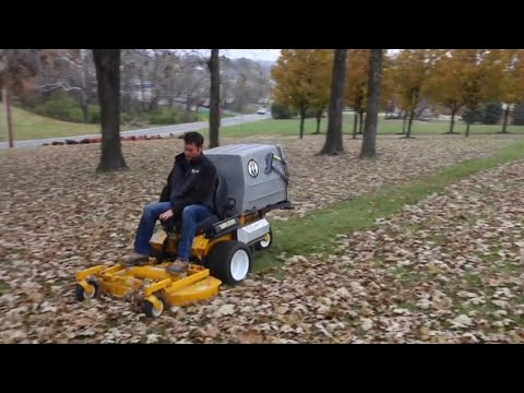 Using A Walker Mower For Leaf Clean Ups... My Thoughts!