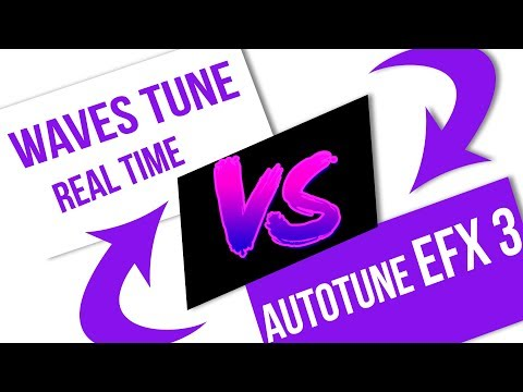 Waves Tune Real Time VS AutoTune EFX 3 - YouTube