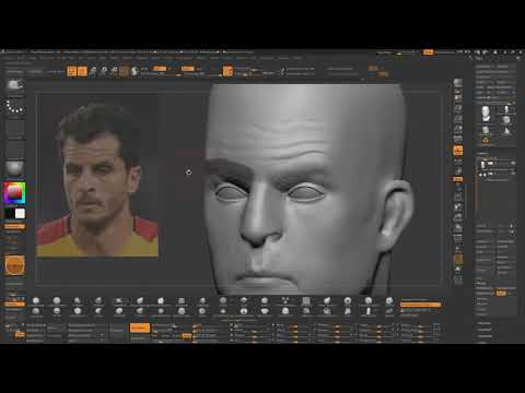 Sculpting Human Face In Zbrush