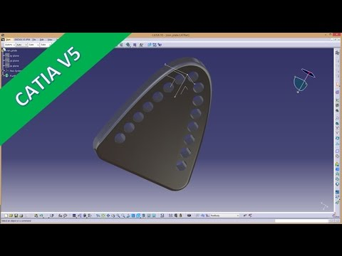 5 8 ironing plate catia v5 training user pattern pattern along path parabola youtube. Black Bedroom Furniture Sets. Home Design Ideas
