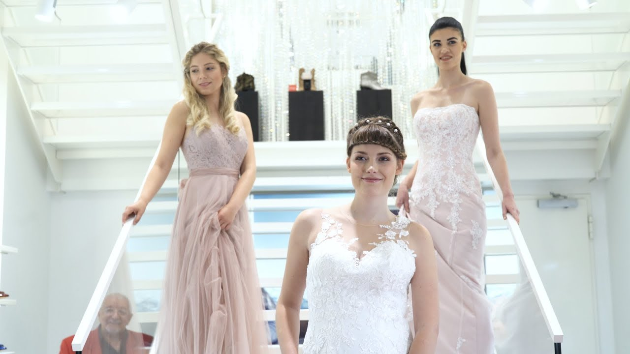 Brautkleider 2018 Audrey Wedding Salon Show Opening - YouTube