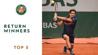 Return Winners - TOP 5 | Roland Garros 2018