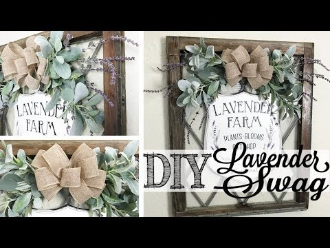 DIY Spring Lavender Swag | DIY & DECOR CHALLENGE