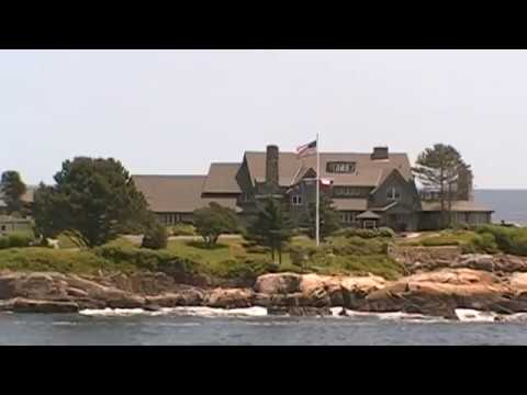 Our Drive Up To The President George H. W. Bush Family Summer Home In Kennebunk Port Maine